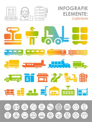 Bilder mit Lieferketten-Infografiken