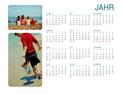 Kalender mit Familienfotos