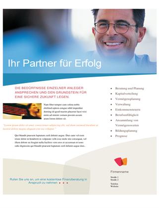 Flyer für Finanzunternehmen