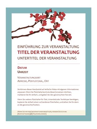 Frühlingshafter Handzettel (Design mit blühendem Zweig)