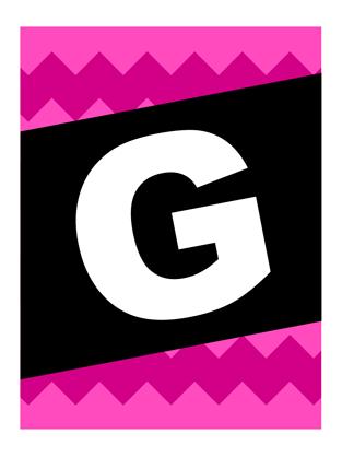 """Banner """"Gute Reise"""" - grafisches Muster"""