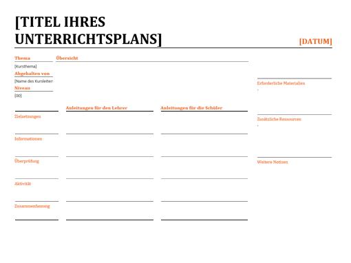 Fein Vorlage Unterrichtspläne Zeitgenössisch - Entry Level Resume ...