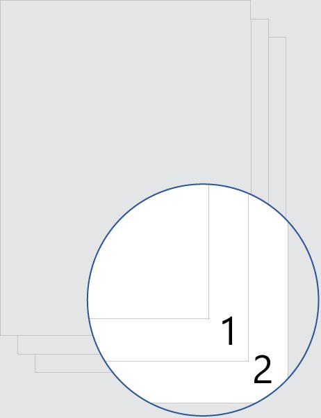 Deckblatt-Nummerierung (unten)