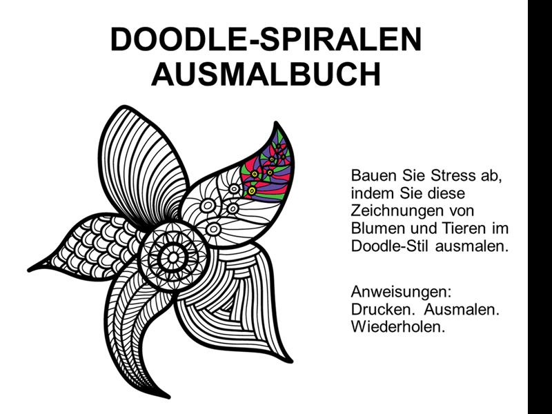 Doodle-Ausmalbuch (Spiralbuch)