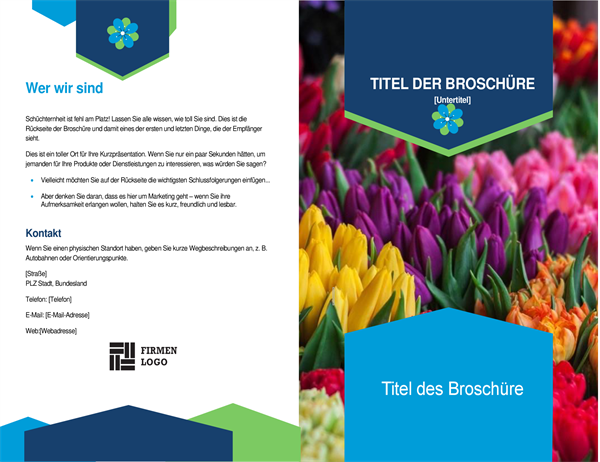 Florale Broschüre