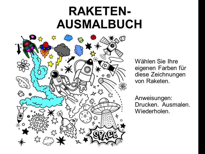 Raketen-Malbuch