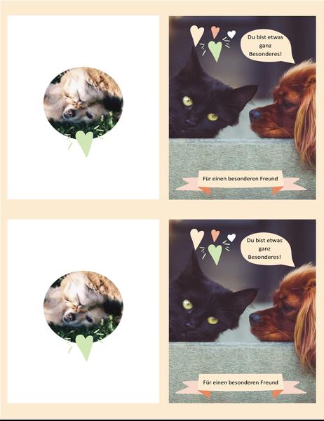 Karte mit Kätzchen und Welpen für jeden Tag