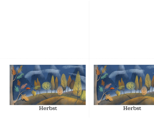 Grußkarten mit Marienkäfer-Motiv (Quadrat-Faltung)