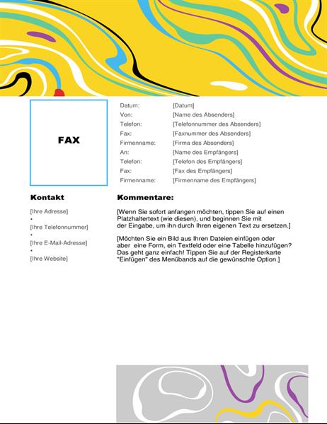 Farbwirbel Faxdeckblatt