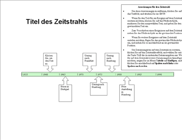 zeitstrahl office templates