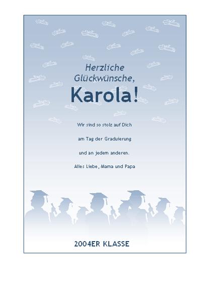 Glückwunschkarte zur Graduierung