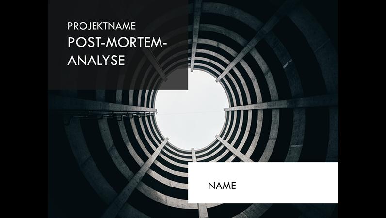 Präsentation für Post-mortem-Projektanalyse