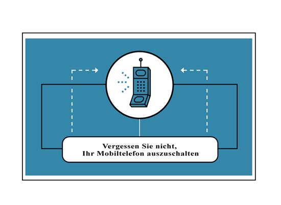 Erinnerungsflyer für Mobiltelefon