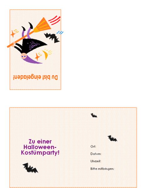 Einladung zu einer Halloween-Party