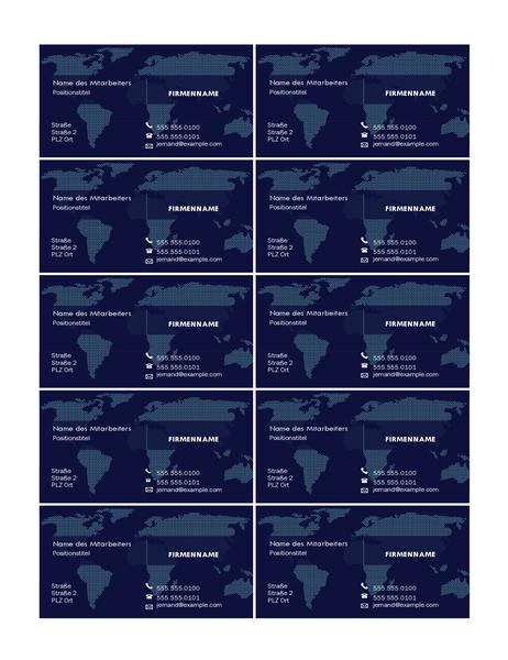 Visitenkarte mit Lageplan