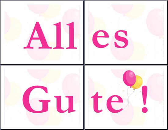 """Banner """"Alles Gute"""""""