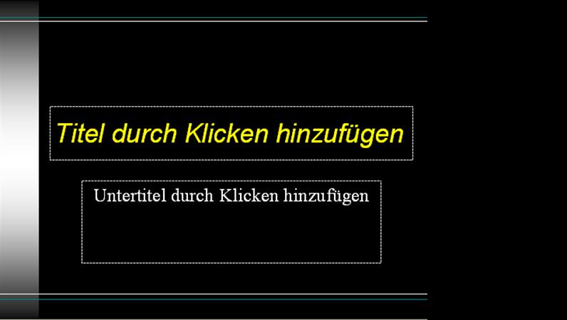 """Entwurfsvorlage """"Schwarz"""""""