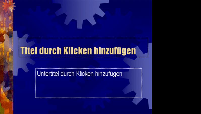 """Entwurfsvorlage """"Fabrik"""""""