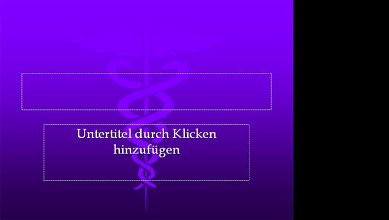 """Entwurfsvorlage """"Medizin"""""""