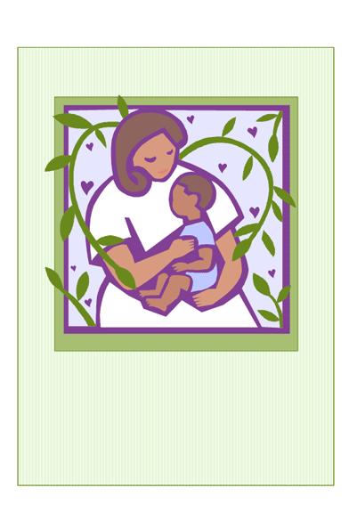 Muttertagskarte (mit Mutter und Baby)
