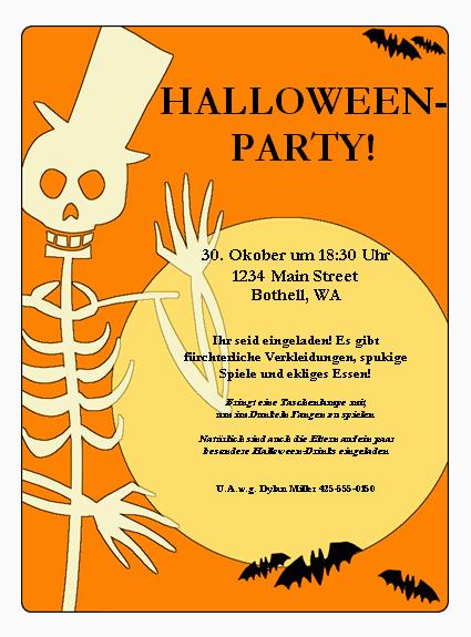 Handzettel Für Halloween Party