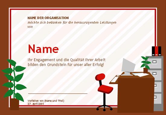 Auszeichnung für Verwaltungsmitarbeiter
