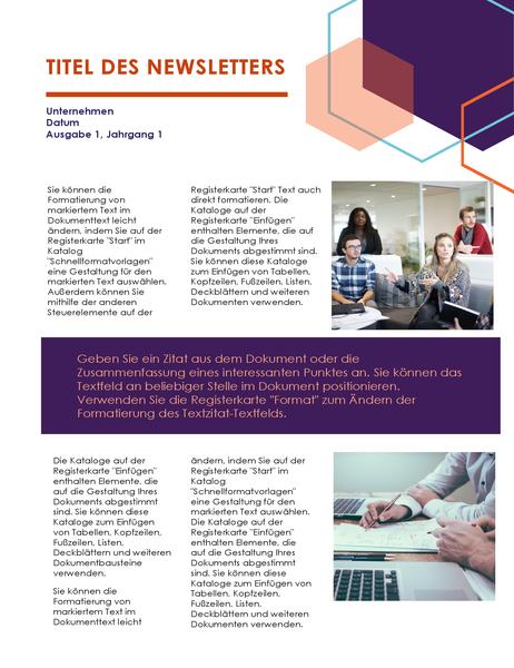 """Newsletter (Design """"Führung"""")"""