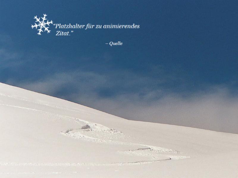 Animierte Schneeszene