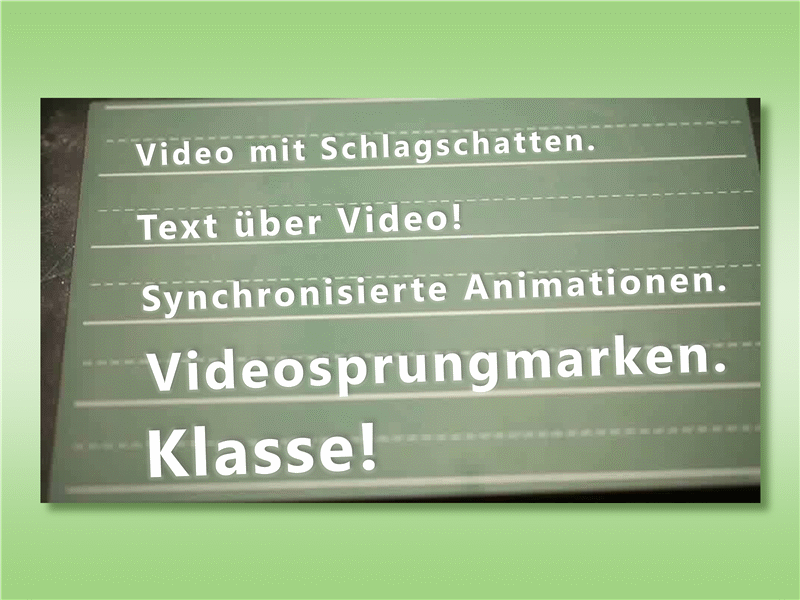 Text vor Video