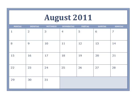 Schulkalender 2011-2012 (Mo-So)