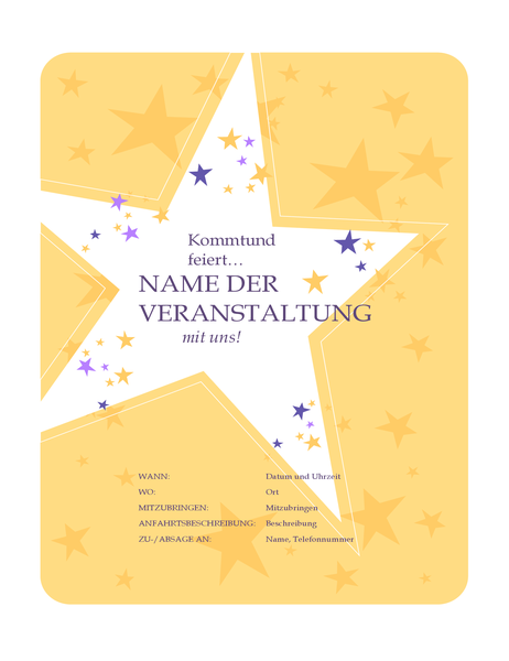 Partyeinladungs-Handzettel