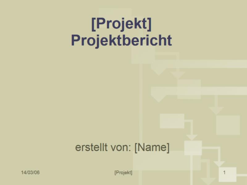 Projektbericht - Office Templates