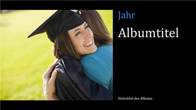 """Fotoalbum """"Abschluss"""", schwarz (Breitbild)"""