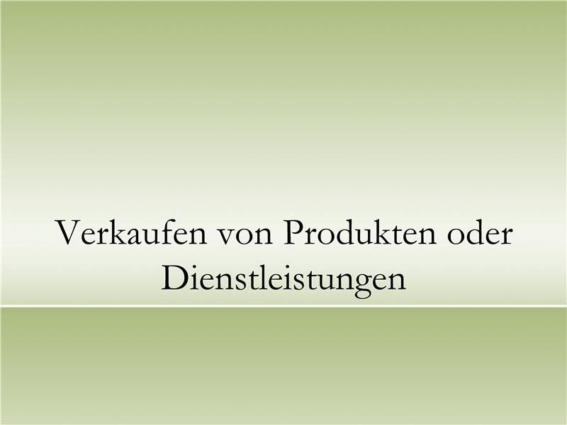 Präsentation zum Verkaufen von Produkten oder Dienstleistungen