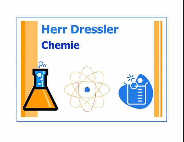 Schild für Klassenraum (Chemie)