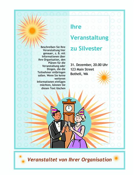 Flugblatt für Silvesterveranstaltung