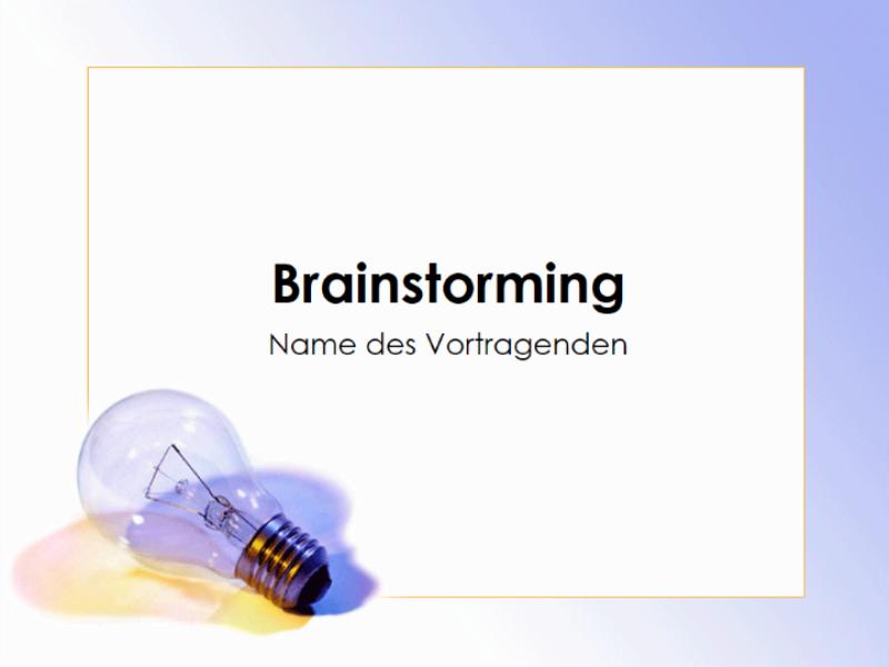 Präsentation zu Brainstorming