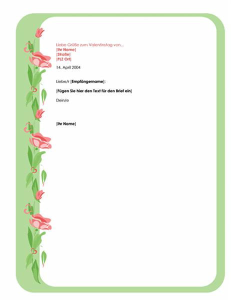 Briefpapier für den Valentinstag
