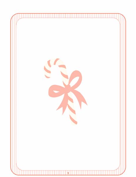 Briefpapier für die Feiertage (mit Zuckerstange als Wasserzeichen)