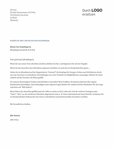 Briefe Schreiben Mit Word : Briefe office