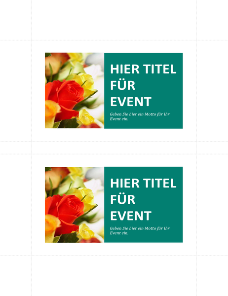 Werbepostkarten (2 pro Seite)