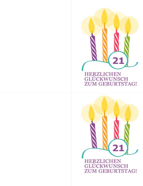 Geburtstagskarten für besondere Geburtstage (2 pro Seite, für Avery 8315)