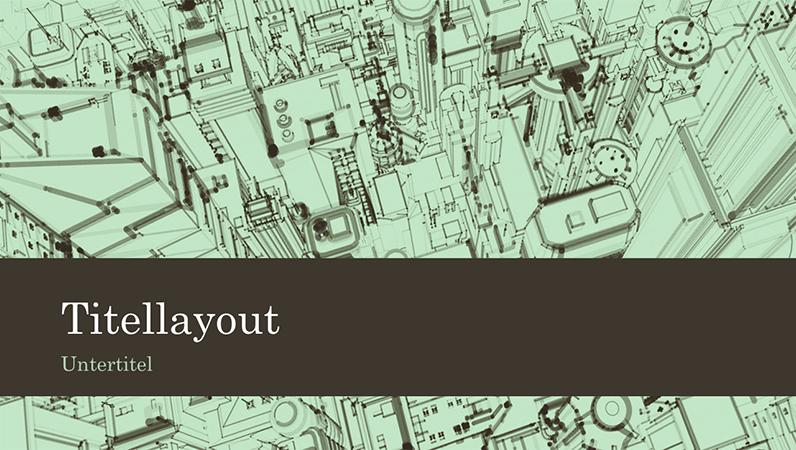 Skizze von Bürogebäuden in einer Großstadt als Präsentationshintergrund (Breitbild)