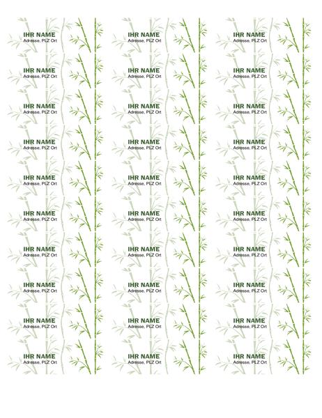 Etiketten (Bambus)