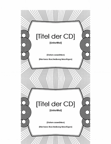 CD-Einlegeblatt