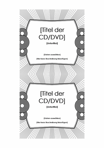 CD-Einlegeblatt (für Avery 5693)