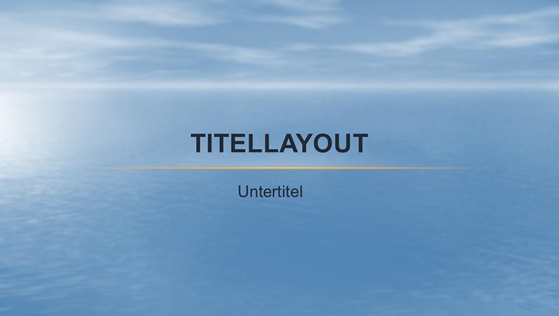 Ozean Entwurfsvorlage