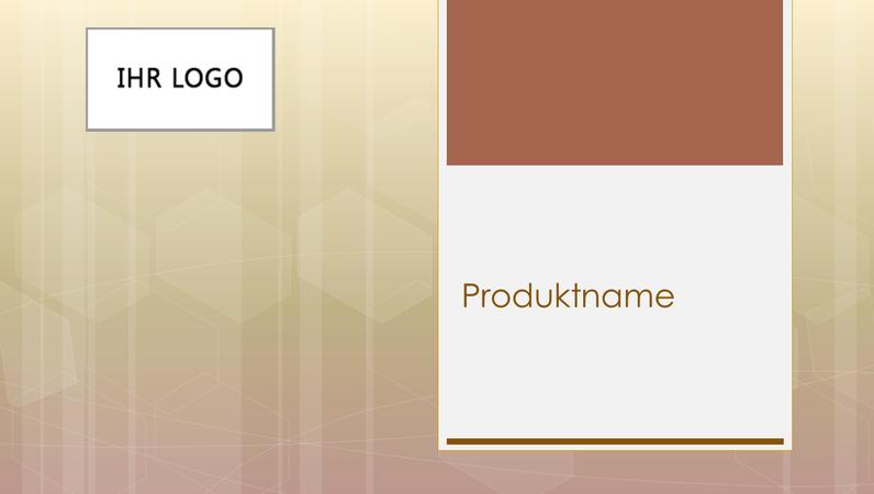 Produktübersichts-Geschäftspräsentation