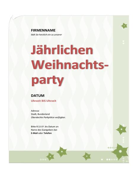 Einladung zur Betriebs-Weihnachtsfeier