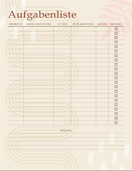Aufgabenliste